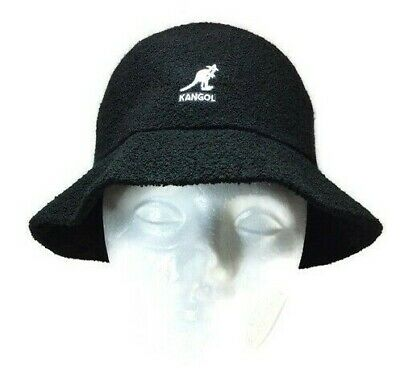 2a7ee8d335ae81 Authentic Kangol Bermuda Casual Bucket Hat Cap 0397BC Black Size MEDIUM