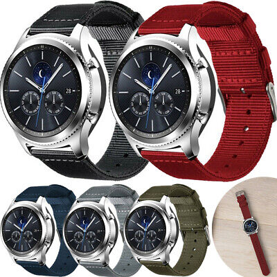 Soft Woven Nylon Watch Band Sport Strap For Samsung Gear S2 S3 Huawei 20mm 22mm