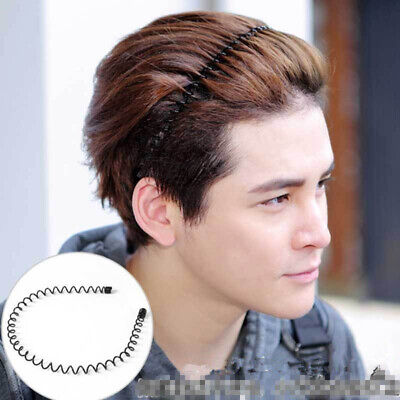 Iron Wire Hairband Solid Color Black Women Men Wave Hair Band Headband Fashion