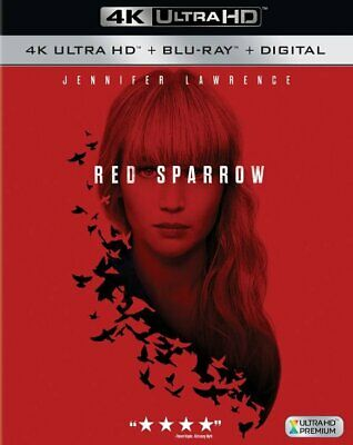 Red Sparrow 4K/Blu-Ray/Digital Combo Pack Jennifer Lawrence BRAND NEW
