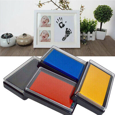 Baby Safe Inkless Touch Footprint Handprint Ink Pad Free Commemorate Supply