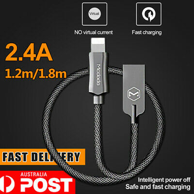 MCDODO 2A Lightning USB Charging Cable Wire Fast Charge for iPhone X 8 7 6S Plus
