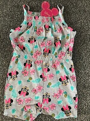 Girls MINNIE MOUSE /DISNEY play suit  Primark Age 24-36 Months OFFICIAL LICENSED