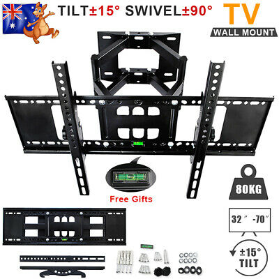 """LCD LED TV Bracket Wall Mount Swivel Arms Strong Stable Support Max 80KG 32-70"""""""