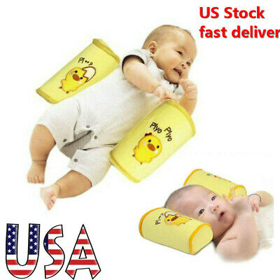 Infant Newborn Baby Anti Flat Roll Sleep Head Support Cot Pillow Protect USA