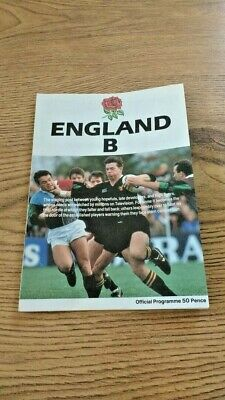 England B v Namibia 1990 Rugby Programme