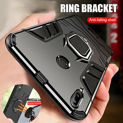 Shockproof Armor Magnetic Ring Holder Case Cover for Samsung Galaxy A40 A70 A80