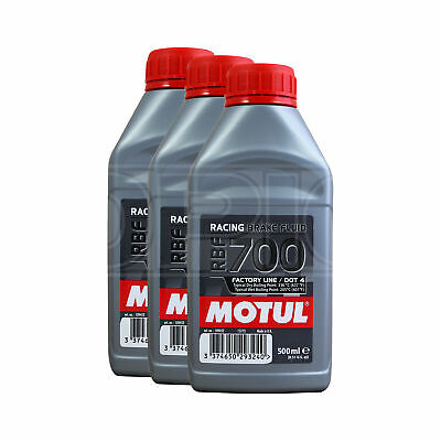 Motul RBF 700 Factory Line Racing Brake Fluid - 3 x 500ml 1.5L
