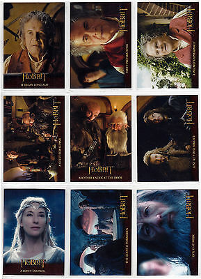 2014 Hobbit An Unexpected Journey 101 Card Base Set + Empty Hobby Box & Wrappers