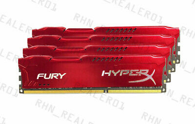 For 8GB 16GB 32GB Kingston HyperX PC3-12800 DDR3-1600MHz DIMM Red Desktop RAM US