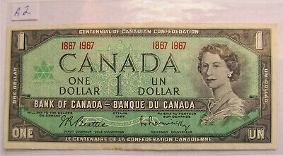 1967 CANADA CENTENNIAL 1 DOLLAR BANKNOTE - A 2 - combined shipping