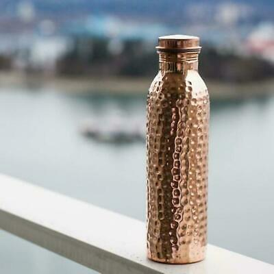 950 ml 100 % Pure Copper Hammered Water Bottle With Ayurveda Health Benefits Pot