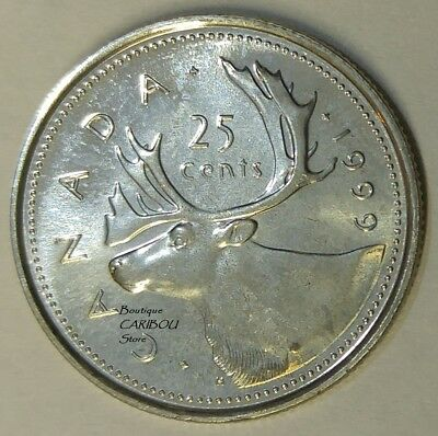 1999 P Canada Test Token 25 Cents Caribou