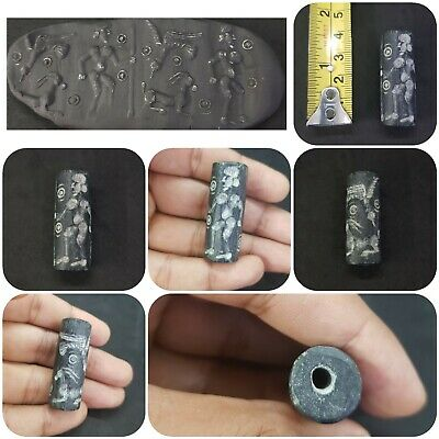 Wonderful Medieval Intaglio King Hunting Cylinder Seal #2A