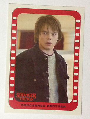 2018 Topps Stranger Things Sticker Card # 9 Jonathan - concerned brother