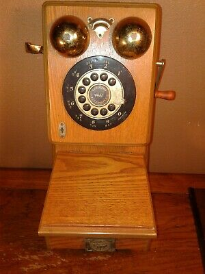Vintage Old Fashion Spirit Of St. Louis Replica Wooden Wall Telephone..Untested