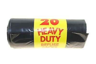 20 X Heavy Duty Refuse Sacks Black Bags Recyclable Material Eco Friendly  New