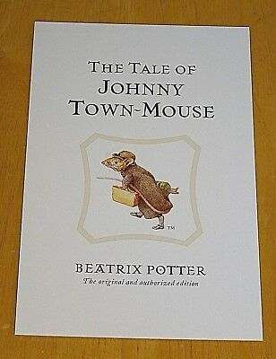 Postcard Beatrix Potter The Tale of Johnny Town-Mouse P135x