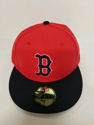 Boston Red Sox New Era 59Fifty MLB Baseball Hat Red Size 7 NWT -MSRP $36