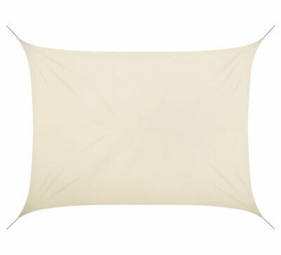 Voile d'ombrage 7x5m rectangulaire polyester beige 180g/m2