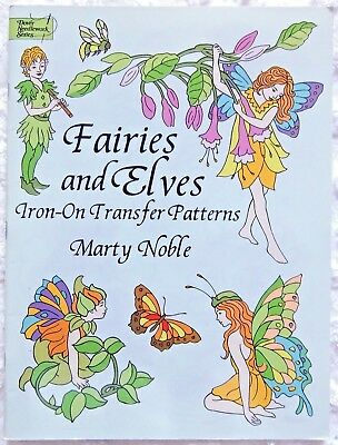 Dover FAIRIES & ELVES Iron On Transfer Pattern Book - Marty Noble
