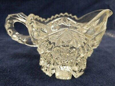 Small Cut Crystal / Glass Cream Pitcher