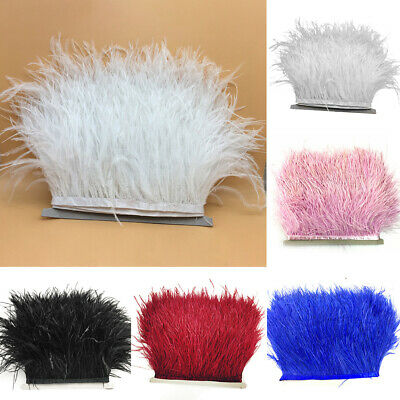 Dress Sewing Decoration Feather Fringe Ribbon Tape Costumes Ostrich Trims Satin