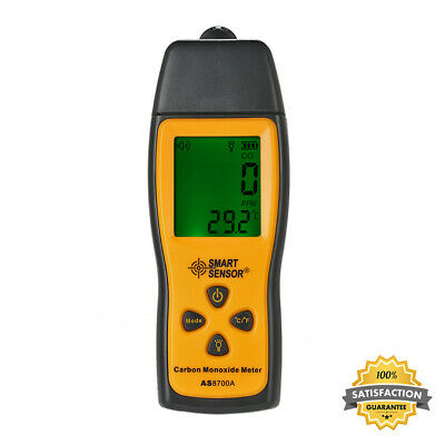 Rilevatore Di Gas CO Monossido Carbonio Palmare Con LCD Display 0-1000ppm S3S9