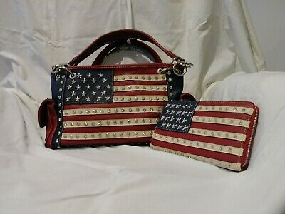 Montana West American Pride Conceal Carry Flag Purse and Wallet or Set - Select