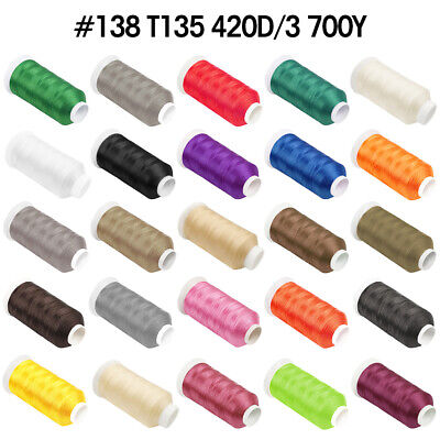 High Strength Bonded Nylon Sewing Thread 700 Yard Size #138 T135 For All Purpose