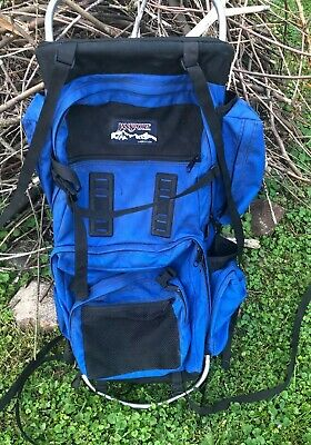 7a2697e32 Vintage Jansport External Frame Backpack Hip Wings USA Hiking Camping ⛺  Clean