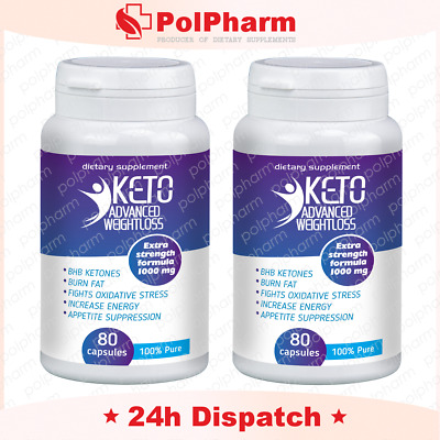 2 x KETO Advanced Weight Loss Diet Pills Ketosis Supplements To Fat Burn&Carb 80