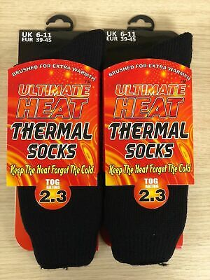 1 ,2 Mens Ultimate Thick Hot Winter Warm Thermal Socks Ultimate Heat 2.3 TOG