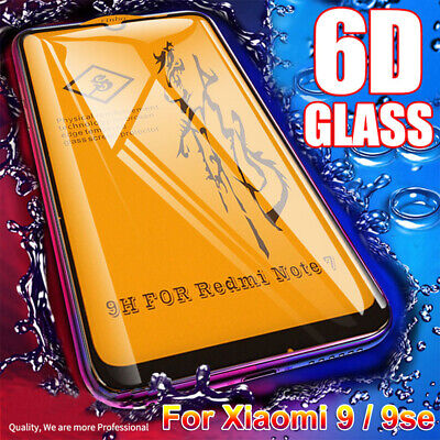 For Xiaomi Redmi Note 7 3D Curved Full Cover Tempered Glass Screen Protector New