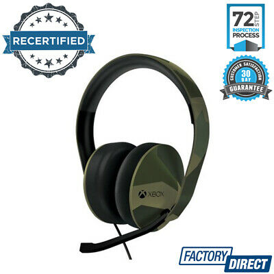 Official Microsoft Xbox One Headset Headphones Headband Microphone Armed Forces