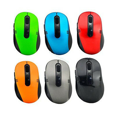 5 x WIRELESS CORDLESS 2.4GHz MOUSE USB DONGLE OPTICAL SCROLL FOR PC LAPTOP MAC