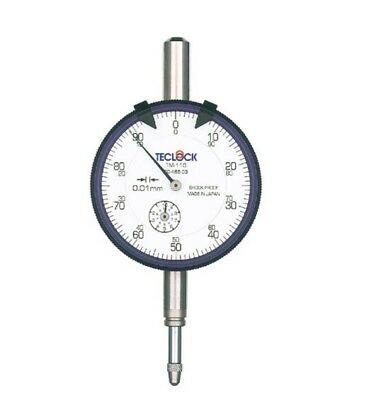 TECLOCK STANDARD DIAL INDICATOR FLAT TYPE (0~10mm) TM-110F MADE IN JAPAN