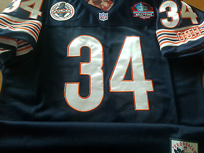 promo code c1fc5 480ce BRAND NEW CHICAGO Bears #34 Walter Payton Throwback Blue Dual Patch Jersey  Mens