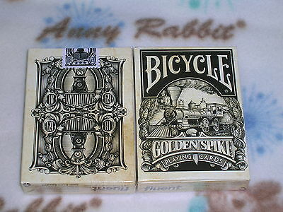 1 Deck Bicycle Golden Spike by Jody Eklund-Playing Cards-S102291-乙F2