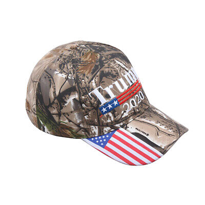 2019 Donald Trump 2020 Cap USA Flag Camouflage Baseball Cap Hat Make Great Hot