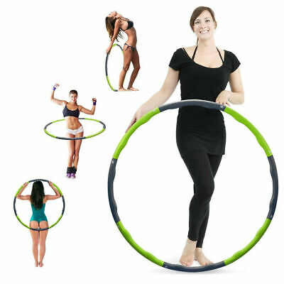 Collapsible Weighted Hula Hoop Fitness Padded Abs Exercise Gym Workout Hoola Adj