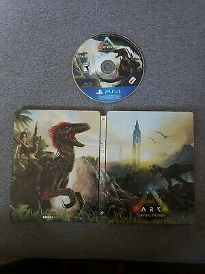 Ark Survival Evolved Game and Steelbook PS4