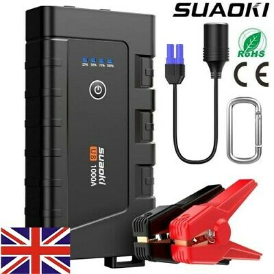 SUAOKI 1000A Charger Booster Jump Starter Power Bank 7.0L Gas 5.5L Diesel Engine