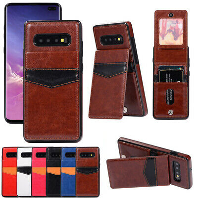 Leather Wallet Credit Card Slot Flip Case Cover For Samsung Galaxy S10+ Note 8 9