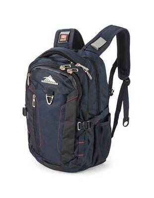 """High Sierra Tephra 17"""" Laptop Midnight Blue/Red Backpack Travel Luggage"""