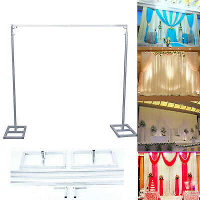 3X3M Adjustable Telescopic Curtain Wedding Backdrop Stand Support Frame Metal AU