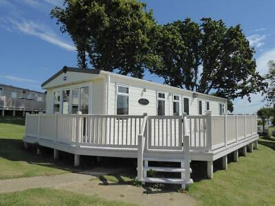 Large 3 bedroom static caravan with decking and sea views isle of wight ryde