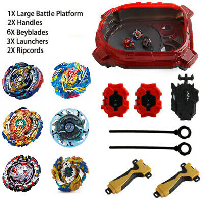 4D Launcher Grip Beyblade Set Fusion Metal Masters Rapidity Fight Kids Toys