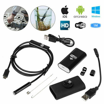 6 LED Wireless Endoscope WiFi Borescope Inspection Camera For Android iPhone UK