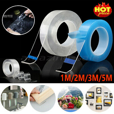 Reusable Magic Nano Tape Double Sided Traceless Adhesive Clear Tape Removable AM